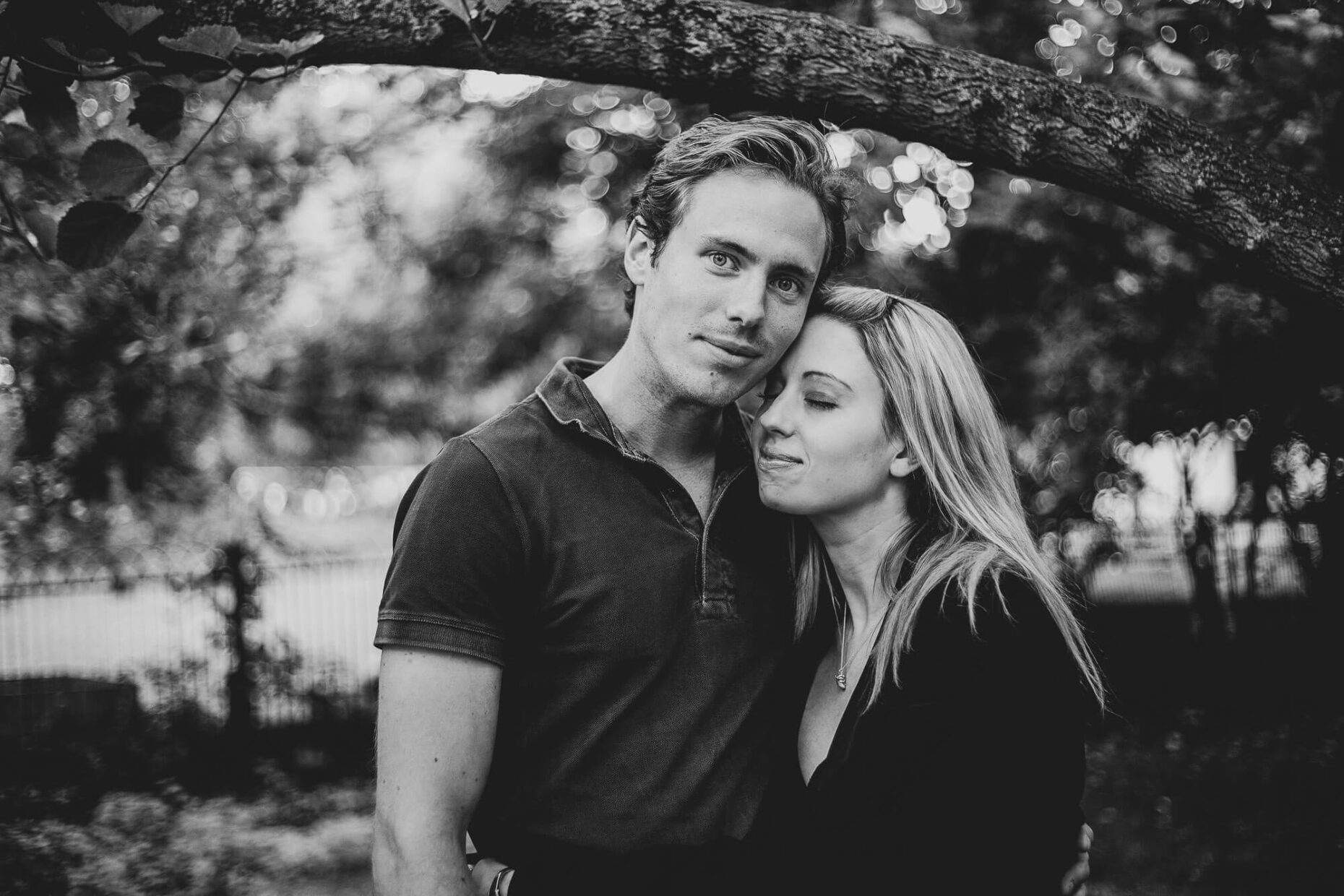 portrait of couple in fulham house shoot